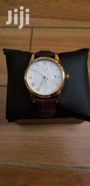 Mens Watches Genuine Leather Band
