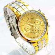 Men's Gold Silver Quartz Rist Watch | Watches for sale in Greater Accra, East Legon (Okponglo)