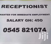 Receptionist Needed Urgent Worker | Clerical & Administrative Jobs for sale in Ashanti, Kumasi Metropolitan