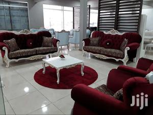 ROYAL RED VELVET SOFA SET