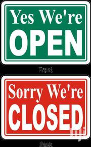 Paper Open Signage For Sale   Home Appliances for sale in Greater Accra, Accra Metropolitan