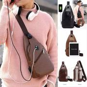 Men's Chest Bag With Ear Piece Hole | Bags for sale in Greater Accra, Agbogbloshie
