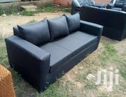 Unique Black Leather Couch | Furniture for sale in Greater Accra, Kokomlemle