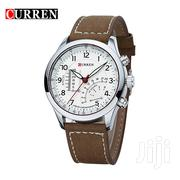 Curren 8152 Mens Quartz Analog With Faux Leather Strap Watch | Watches for sale in Greater Accra, Abelemkpe
