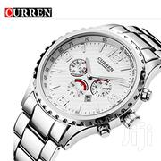 CURREN 8056 Fashion Casual Men's Stainless Steel Quartz Watch | Watches for sale in Greater Accra, Abelemkpe